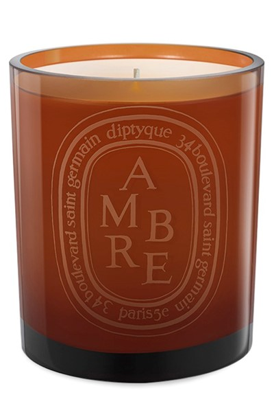 Ambre Candle (colored glass)  Colored Glass Candle  by Diptyque