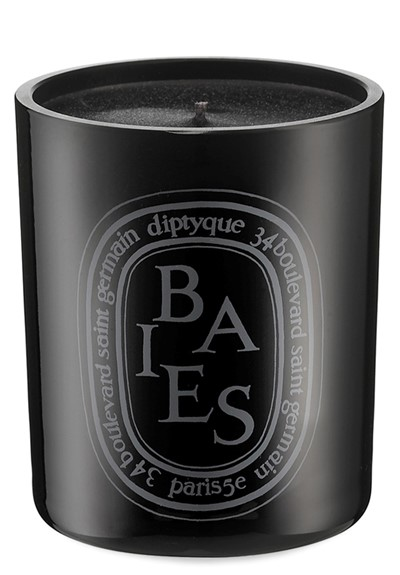 Baies Noire Candle  Colored Glass Candle  by Diptyque