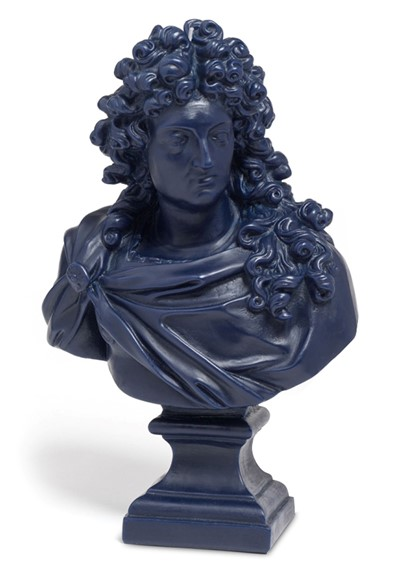 Louis XIV Wax Bust - Navy Blue    by Cire Trudon
