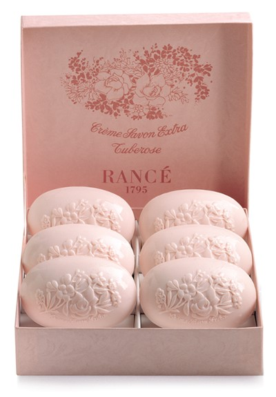 Tuberose- Box Of 6 Soaps  Scented Bar Soap  by Rance