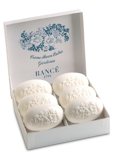 Gardenia- Box Of 6 Soaps  Scented Bar Soap  by Rance