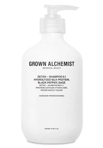 Detox Shampoo: Hydrolyzed Silk Protein, Black Pepper, Sage Shampoo  by Grown Alchemist
