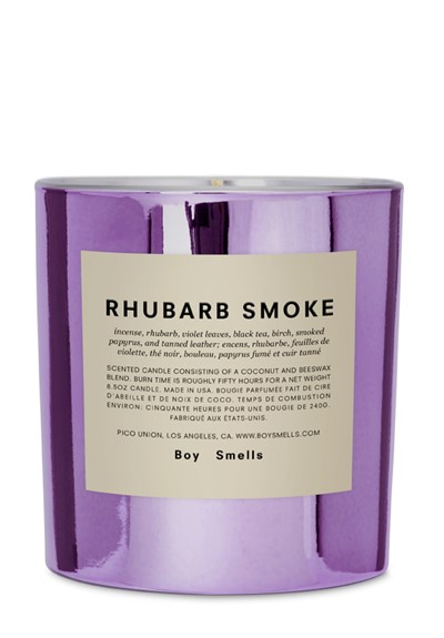 Rhubarb Smoke  Scented Candle  by Boy Smells