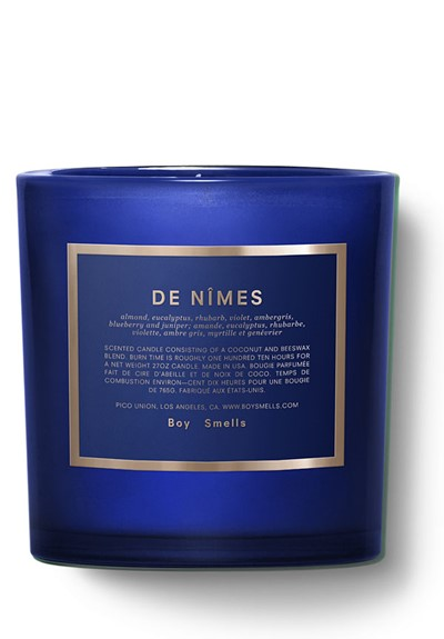 De Nimes  Scented Candle  by Boy Smells