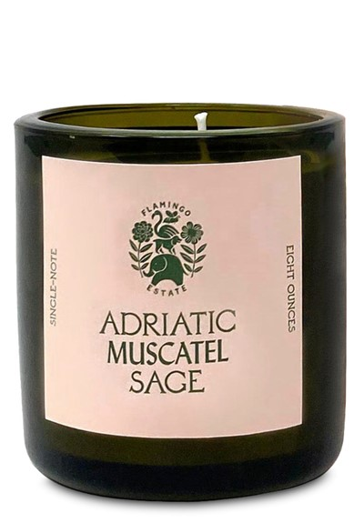 Adriatic Muscatel Sage  Scented Candle  by Flamingo Estate