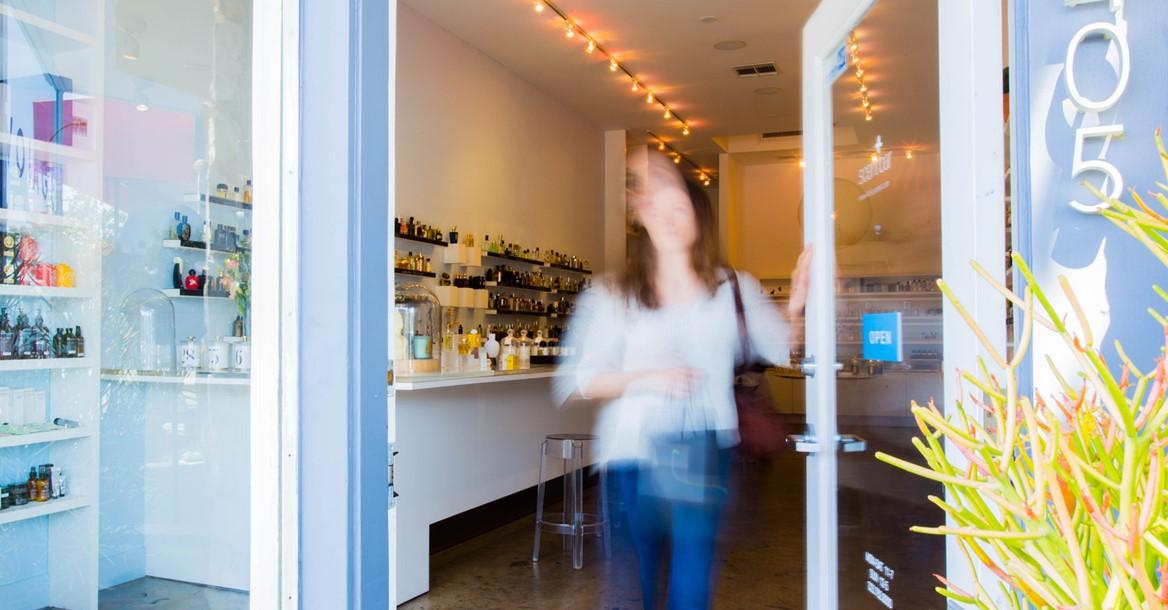 Scent Bar Hollywood Doorway